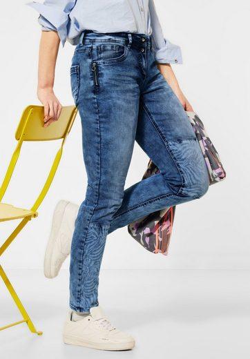 Cecil Loose-fit-Jeans mit Zebramuster