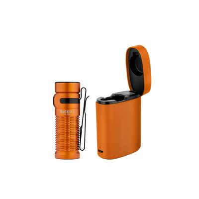 OLIGHT Taschenlampe »Baton 3 PREMIUM EDITION LED EDC Taschenlampe 1200 Lumen 166 Meter Leuchtweite, 6 Lichtmodi mit Timing Funktion, Aufladbar mit Drahtlosen Ladebox, IMR16340 Batterie ink.«