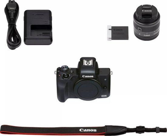 Canon »EOS M50 Mark II« Systemkamera (EF-M 15-45mm f/3,5-6,3 IS STM, Graphit-Grau, 24,1 MP, WLAN (WiFi), NFC, Bluetooth)