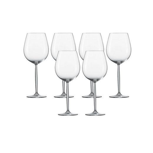 SCHOTT-ZWIESEL Rotweinglas »Burgunder Glas 6er-Set Diva«, TRITAN -Kristallglas