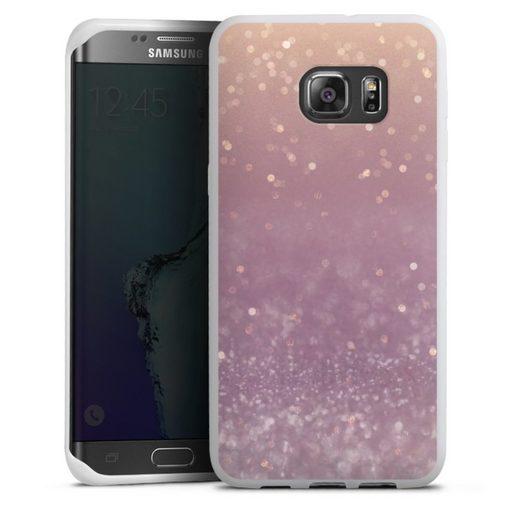 DeinDesign Handyhülle »Tender Gleam Glitterlook« Samsung Galaxy S6 Edge Plus, Hülle Glitzer Look Schneeflocken Muster