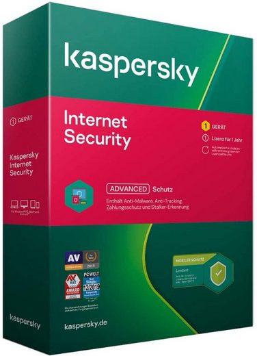 Kaspersky Kaspersky Internet Security 2021, Limited Edition inkl. Android-Schutz 1 Gerät 1 Jahr Windows Mac Android Aktivierungscode in Standardverpackung (Antivirus & Internet Security, Aktivierungscode in Standardverpackung)