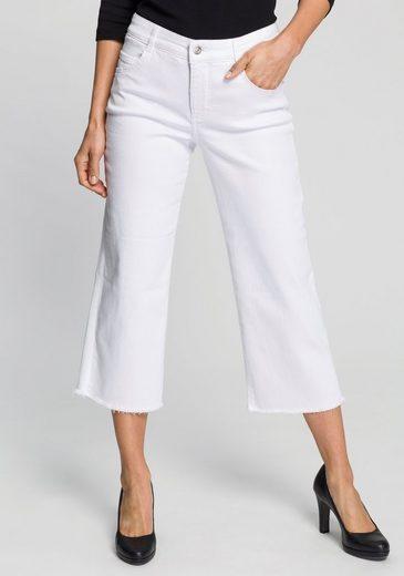 MAC Weite Jeans »Greta Fringes« Weite Form mit abgesteppten Fransen