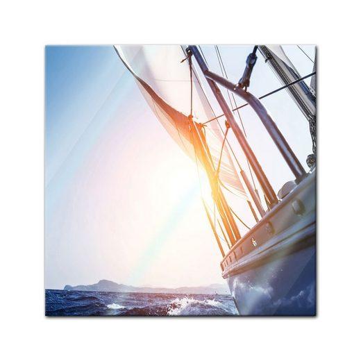 Bilderdepot24 Glasbild, Glasbild - Yacht auf See II
