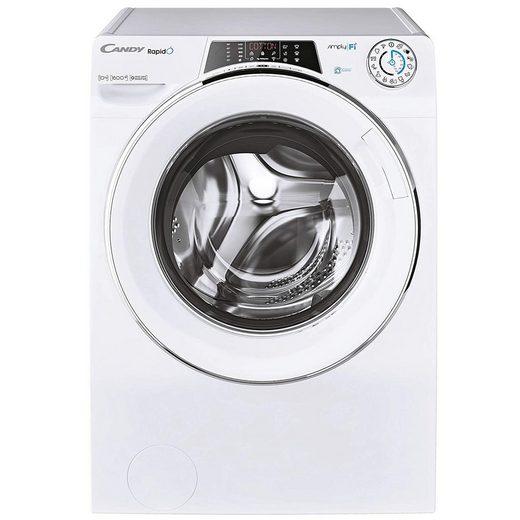 Candy Waschmaschine RO16106DWMCE/1-S, 10 kg, 1600 U/min, Mengenautomatik, Mix Power System, Smarte Bedienung mit Wi-Fi und Bluetooth