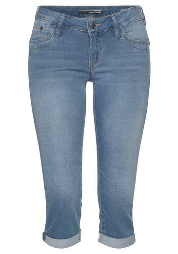 Mavi Jeansbermudas »ALMA« authentische Waschung mit Usedeffekten