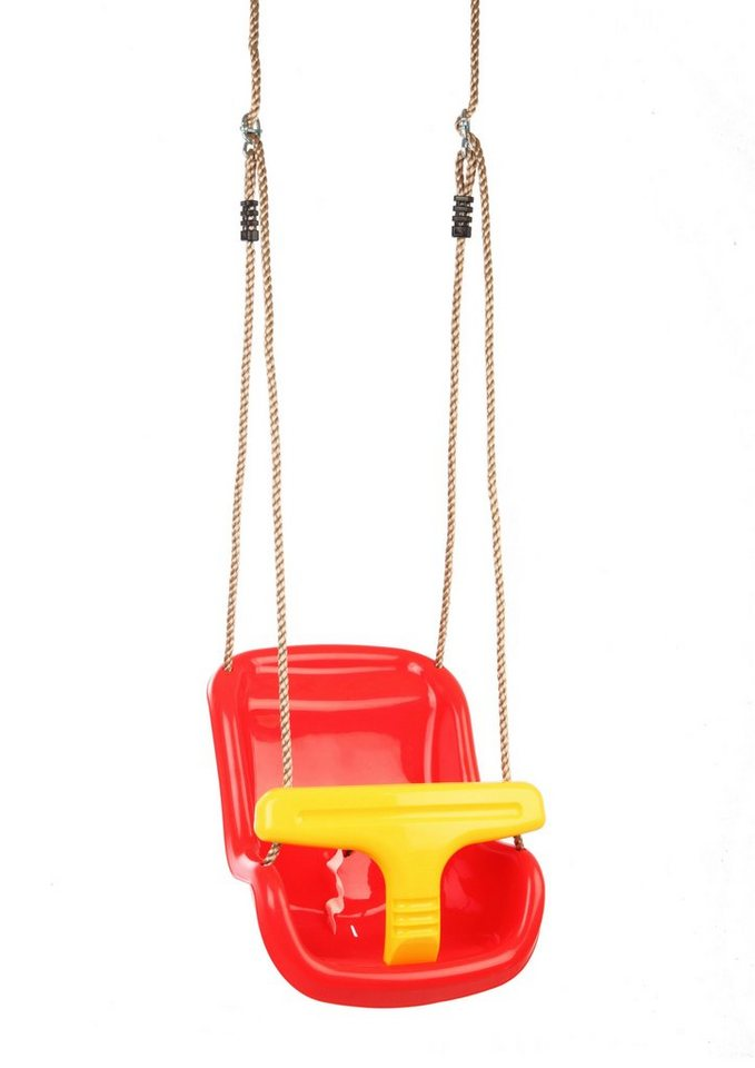 Dein Spielplatz Zubehör für Schaukel und Spielturm »Baby Schaukelsitz« in rot/gelb
