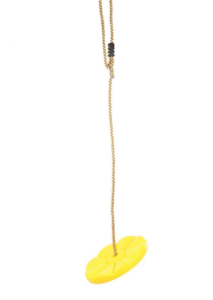 Dein Spielplatz Zubehör für Schaukel und Spielturm »Tellerschaukel, gelb« in gelb