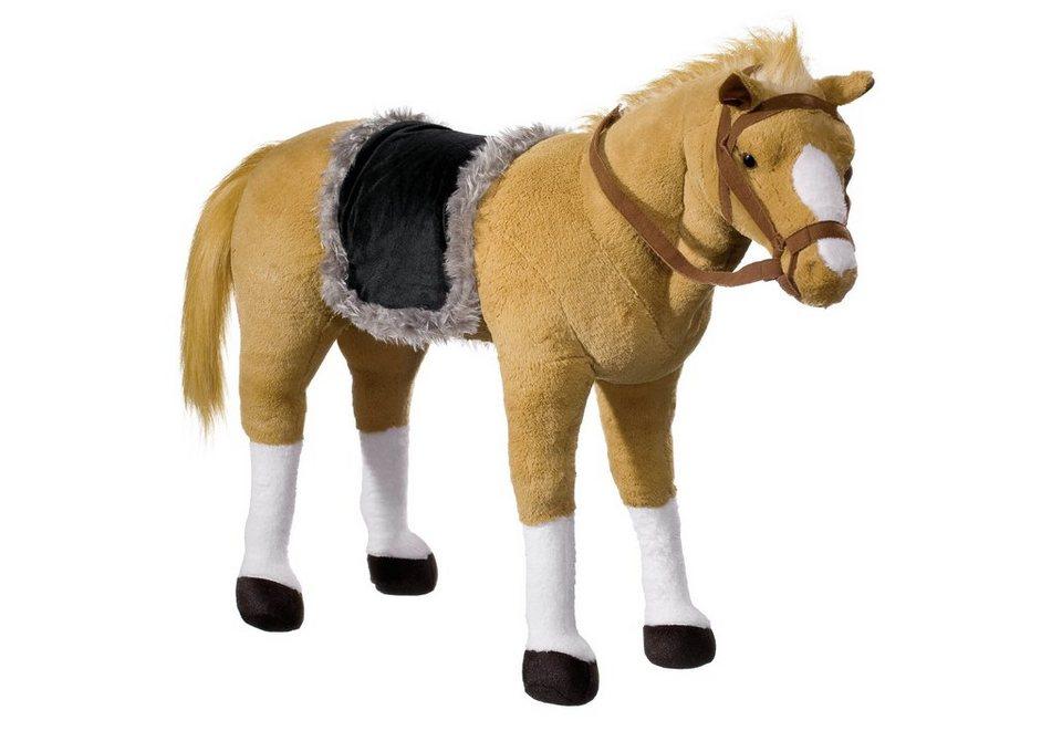 pl schtier mit sound heunec pferd stehend mit satteldecke online kaufen otto. Black Bedroom Furniture Sets. Home Design Ideas