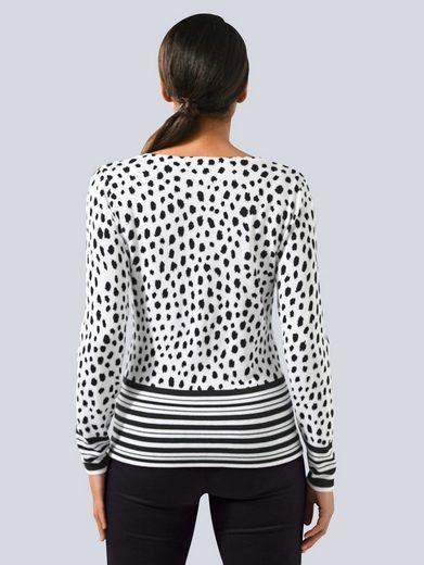 Alba Moda Pullover in modischem Grafik Print allover
