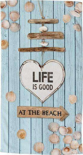 good morning Strandtuch »Beach« (1-St), trocknet schnell