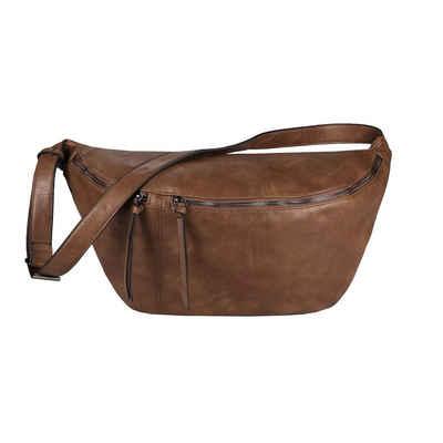 ITALYSHOP24 Schultertasche »Damen XXL Tasche CrossBody Body Bag Bauchtasche«, als CrossOver, Umhängetasche tragbar, Hüfttasche