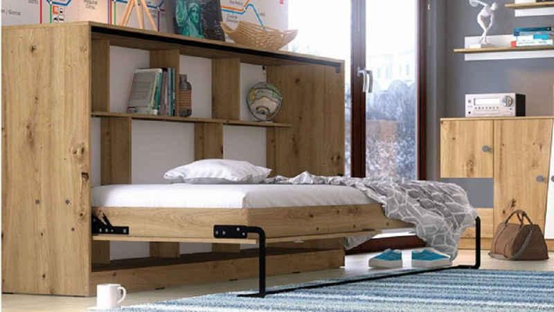 Feldmann-Wohnen Schrankbett »NERO« (Bett) Liegefläche: 90 cm x 200 cm