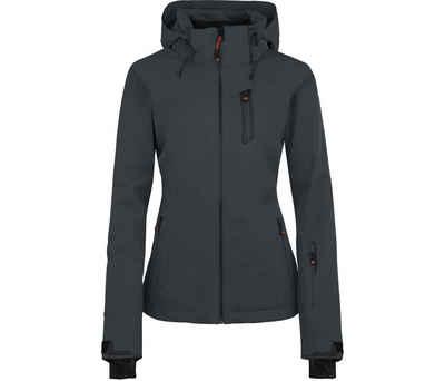 Bergson Skijacke »NICE light« Damen Skijacke, unwattiert, 20000 mm Wassersäule, Normalgrößen, dunkel grau