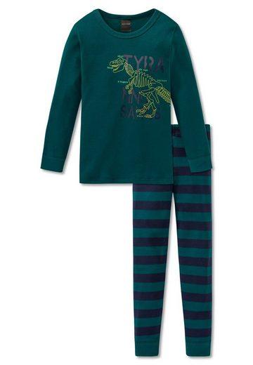 Schiesser Pyjama »Jungen Schlafanzug 3-tlg. Set - mit 2 Hosen«