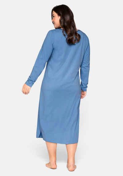 Sheego Nachthemd mit Frontdruck, in wadenlanger Form