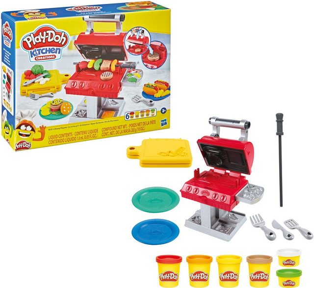 Image of Hasbro F06525L0 - Play-Doh Kitchen Creations Grillstation Spielset, mit 6 Play-Doh Farben