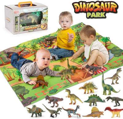 BeebeeRun Spielmatte »Dinosaurier-Spielzeug mit Spielmatte«, Pädagogisches Dinosaurierspielzeug für Kinder 2 3 4 5 Jahre
