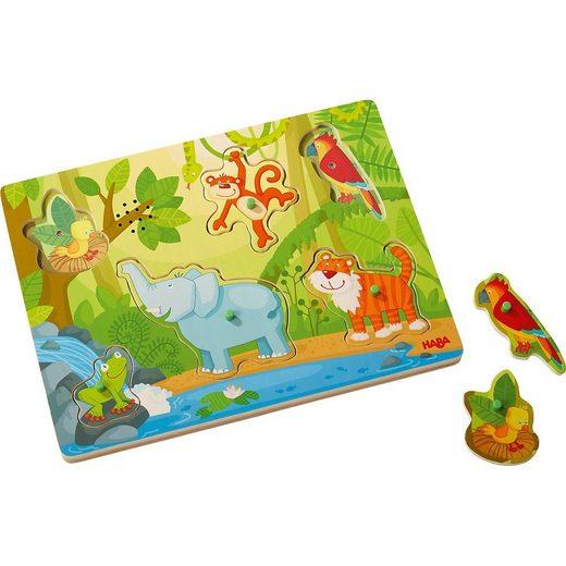 """Haba Steckpuzzle »Greifpuzzle mit Geräuschen """"Im Dschungel""""«, Puzzleteile"""