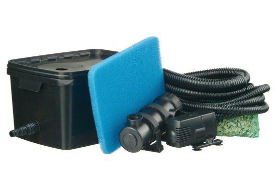 Ubbink Teichfilter »Filtra Pure 2000 Plus« (Set, Teichfilter (18 W); Teichpumpe (900 l/h); UVC-Gerät (5 W); Filterschwamm; Filtermedien; 2 Schläuche (3 m, 1 m); Schlauchklemme; Anschlussmaterial)