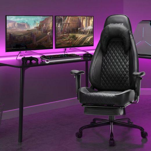 SONGMICS Gaming-Stuhl »RCG45BK«, Bürostuhl, Chefsessel, Schreibtischstuhl, schwarz