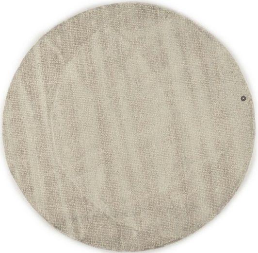 Teppich »Groove«, TOM TAILOR, rund, Höhe 15 mm, modernes Design, edles Farbspiel, Wohnzimmer