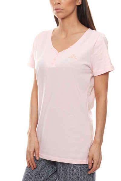Kappa Kurzarmshirt »Kappa Shirt Kurzarm-Shirt modisches Damen T-Shirt Freizeit-Shirt Rosa«