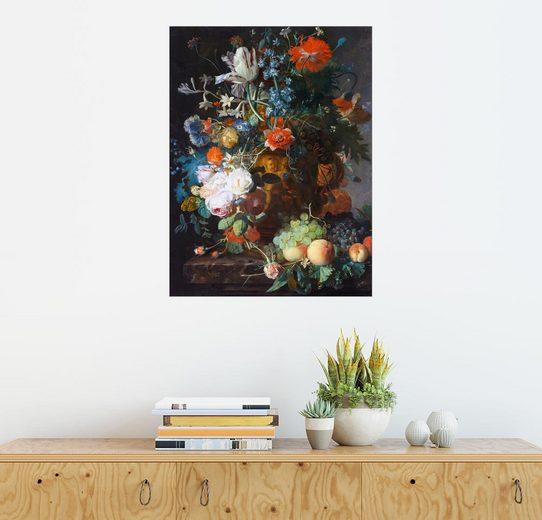 Posterlounge Wandbild, Stillleben mit Blumen und Früchten