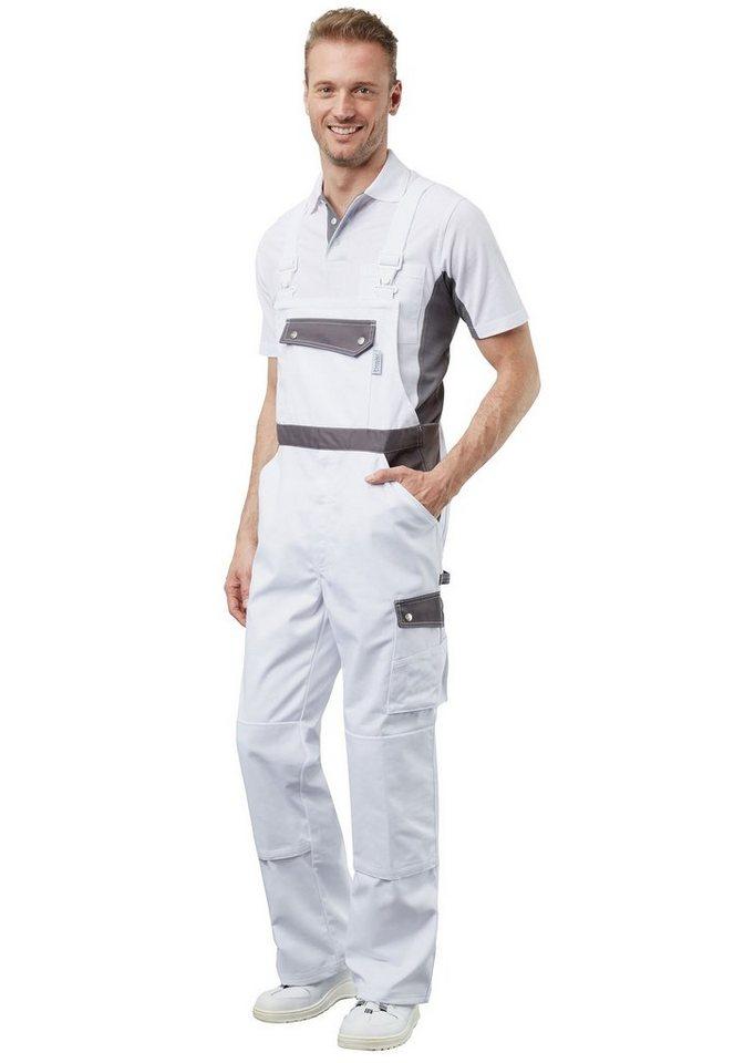 Pionier ® workwear Latzhose Active Style in weiss/grau