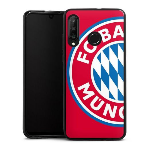 DeinDesign Handyhülle »großes FCB Logo Rot« Huawei P30 Lite Premium, Hülle FC Bayern München Offizielles Lizenzprodukt FCB
