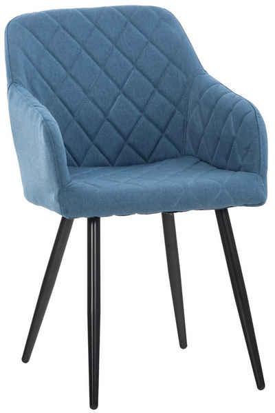 CLP Esszimmerstuhl »Armlehnenstuhl Shila«, Polsterstuhl mit Samt- oder Stoffbezug