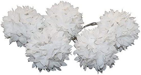 JOKA international LED-Lichterkette »Lichterkette Blumenball Schneeball batteriebetrieben«, 5-flammig