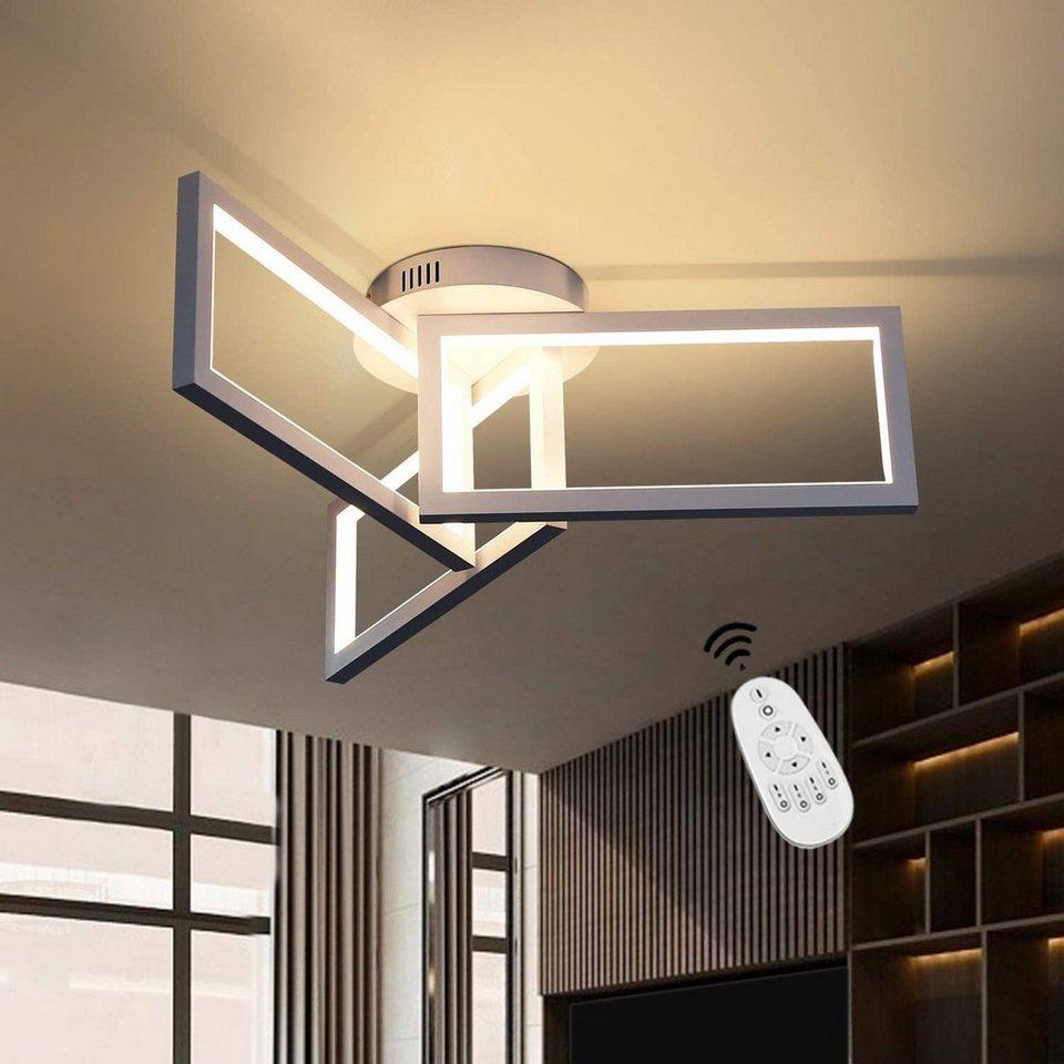 ZMH LED Deckenleuchte »Deckenlampe Dimmbar Modern Weiße 8w Quadrat-Design  aus Metall und Silikagel für Wohnzimmer Esszimmer« online kaufen  OTTO