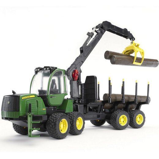 Bruder® Spielzeug-Auto »BRUDER 02133 John Deere 1210E Rückezug m. 4«