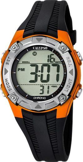 CALYPSO WATCHES Digitaluhr »UK5685/7 Calypso Kinder Uhr K5685/7 Kunststoffband«, (Digitaluhr), Kinder Armbanduhr rund, PURarmband schwarz, Fashion