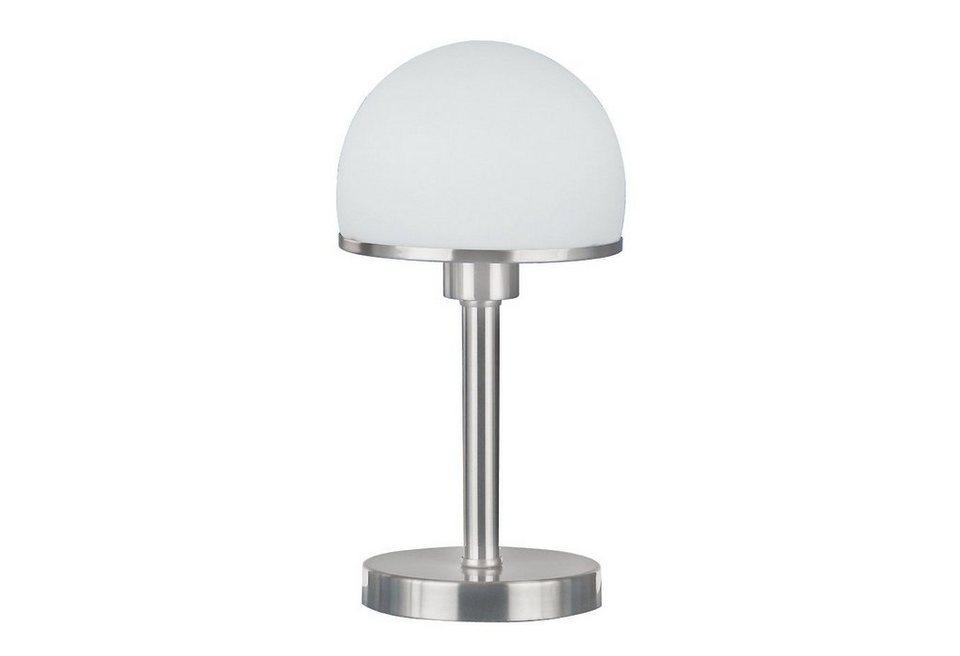 Tischlampe, Trio. Die Leuchte ist geeignet für Leuchtmittel der EEK A++ bis E. in Nickelfarben matt