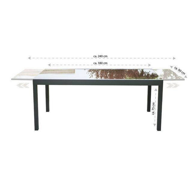 HOME DELUXE Gartentisch »Sol«| Schnell und einfach ausziehbar | Garten > Gartenmöbel > Gartentische | HOME DELUXE