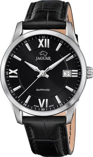 Jaguar Chronograph »UJ883/4 Jaguar Herren Armbanduhr ACM«, (Analoguhr), Herrenuhr rund, groß (ca. 40mm), Edelstahl, Lederarmband, Sport-Style