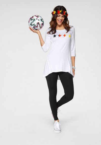 Boysen's Longshirt »Fanshirt« im Vokuhila-Stil