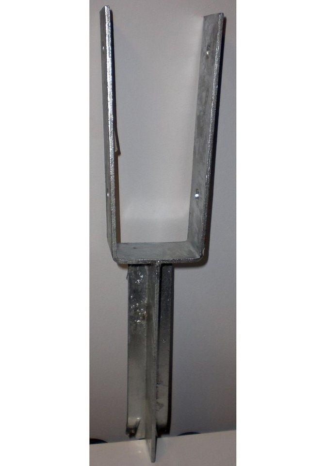 Set: »Pfostenschuhe zum Einbetonieren für Pfostenstärke 7 x 7 cm «