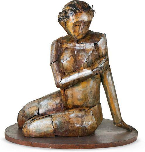 GILDE GALLERY Dekofigur »Skulptur Sinnliche Schönheit« (1 Stück), Dekoobjekt, Höhe 68 cm, handgefertigt, aus Metall, Wohnzimmer