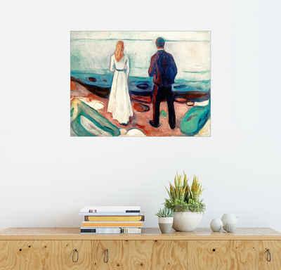 Posterlounge Wandbild, Zwei Menschen. Die Einsamen