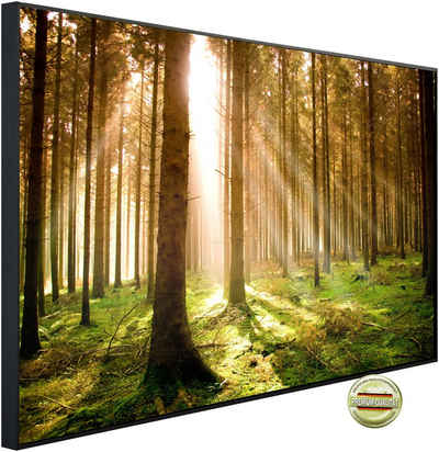 Papermoon Infrarotheizung »EcoHeat - Autumn Pine Forest«, Aluminium, 1200 W, 100 x 115 cm, mit Rahmen