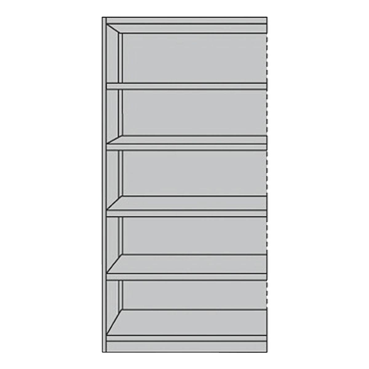 KERKMANN Regalfeld mit Rückwand 96 cm breit »Office 6 OH«
