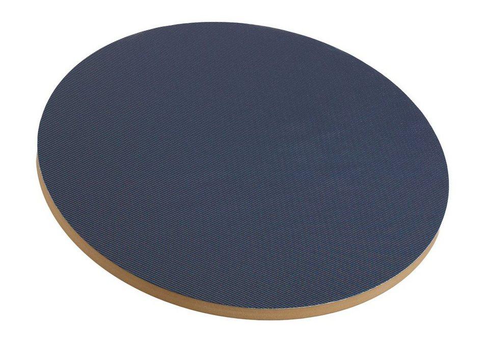 Balance Board Holz, Spartan, rund in blau/natur