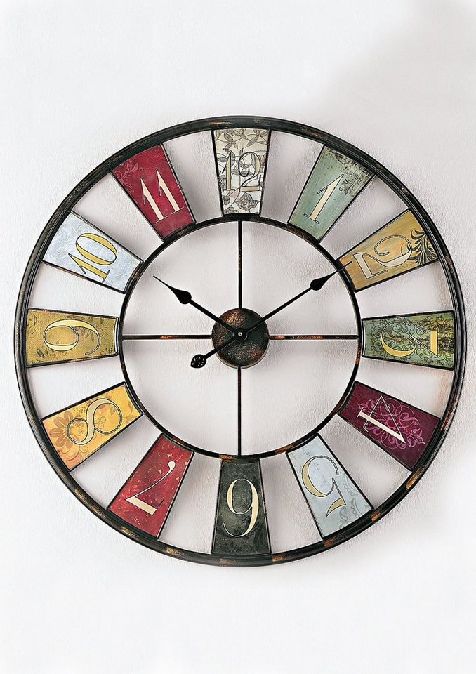 home affaire wanduhr wheel online kaufen otto. Black Bedroom Furniture Sets. Home Design Ideas