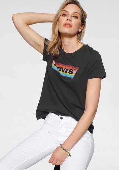 Levi's® T-Shirt »The Perfect Tee Pride Edition« Print in Regenbogenfarben