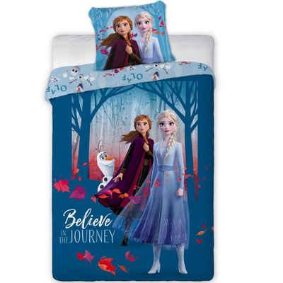 Kinderbettwäsche »Anna Elsa«, Disney Frozen, 135-140x200 cm, 100% Baumwolle
