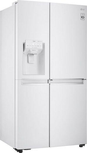 LG Side-by-Side GSJ761SWZZ, 179 cm hoch, 91,2 cm breit, Door-in-Door