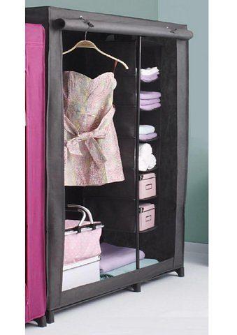 Kleiderschrank, Wenko, mit mobilem Wäschesortierer (6 Fächer)